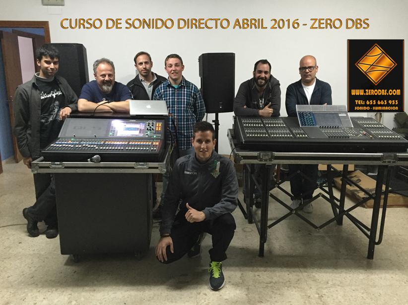 FINALIZADO EL CURSO DE SONIDO DIRECTO -ABRIL 2016