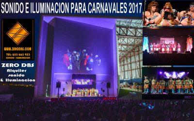 CARNAVALES 2017 – PIDE PRESUPUESTO SONIDO, ILUMINACION!!!