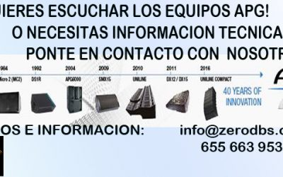 INFORMACION Y DEMOS PERSONALIZADAS APG AUDIO